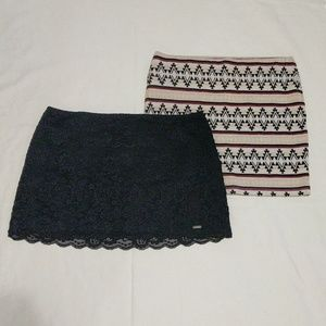Mini Skirts Hollister Nollie Blue Lace / Sweater !